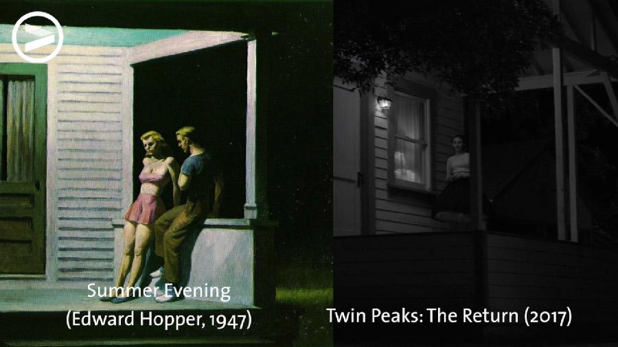 """Деякі кадри з """"The Return"""" є прямими цитатами картин відомих живописців. Це простежили VoorDeFilm у відео про живописну мову Девіда Лінча"""