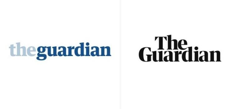Новый логотип The Guardian: классика и экономия