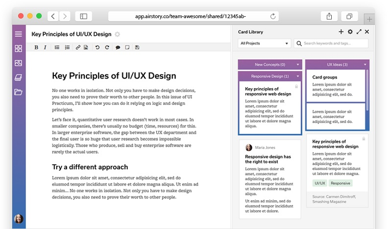 key principles on user design