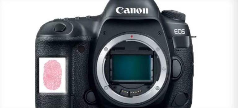 Canon может добавить идентификатор отпечатка пальца к своим камерам и объективам