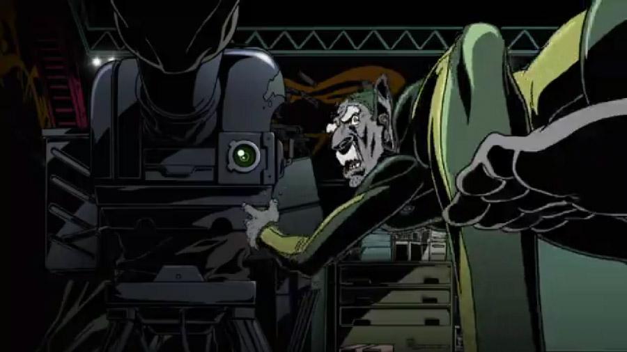 Многорукий механик главного героя в динамичном ракурсе