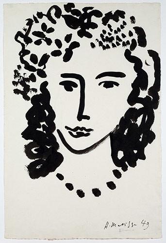 Анри Матисс «Большая голова», 1949 Американская федерация искусств