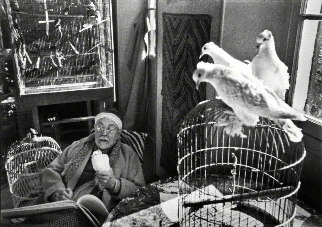 Анри Матисс у себя дома. Фото Анри Картье-Брессон. Ванс, Франция, 1944