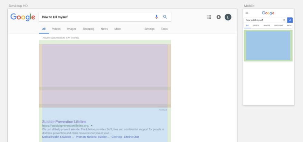Сетка поискового интерфейса Google и ее имитация в Sketch